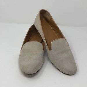 J.Crew suede slip on loafers